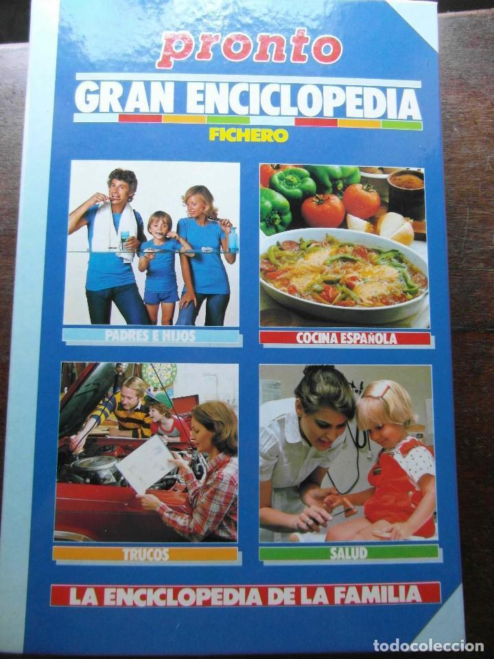 GRAN ENCICLOPEDIA. LA ENCICLOPEDIA DE LA FAMILIA. FICHERO. REVISTA PRONTO (Papel - Revistas y Periódicos Modernos (a partir de 1.940) - Revista Pronto)