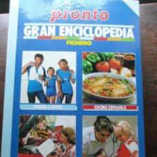 Coleccionismo de Revista Pronto: GRAN ENCICLOPEDIA. LA ENCICLOPEDIA DE LA FAMILIA. FICHERO. REVISTA PRONTO. Lote 113333615