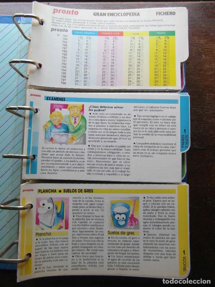 Coleccionismo de Revista Pronto: Gran enciclopedia. La enciclopedia de la familia. Fichero. Revista Pronto - Foto 2 - 113333615