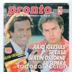 Coleccionismo de Revista Pronto: *REVISTA PRONTO 657* 10-12-84 * JULIO IGLESIAS / BERTIN OSBORNE / ANA BELEN / ROCIO JURADO / 15. Lote 113401563