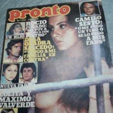 Coleccionismo de Revista Pronto: REVISTA PRONTO Nº 219 AÑO 1976 CAMILO SESTO, AMPARO MUÑOZ, ROCÍO JURADO, LOLITA, DE LA QUADRA SALCED. Lote 113984686