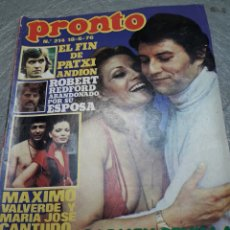 Coleccionismo de Revista Pronto: REVISTA PRONTO Nº 214 AÑO 1976 CARMEN SEVILLA, MARIA JOSÉ CANTUDO, PATXI ANDION, ROBERT REDFORD. Lote 113984818