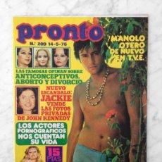 Coleccionismo de Revista Pronto: PRONTO - 1976 - MANOLO OTERO, NIEVES SALCEDO, CONCHA VELASCO, TINA SAINZ, MARÍA CASAL, EMILIO JOSÉ. Lote 114189295