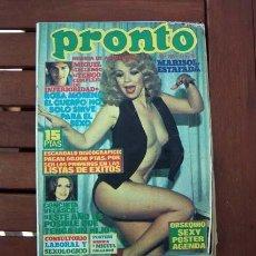 Coleccionismo de Revista Pronto: PRONTO / ROCIO JURADO, ROSA MORENA, MIKE CONNORS, PERET, MARISOL, KISS, SIRPA LANE, MIGUEL GALLARDO. Lote 114894655