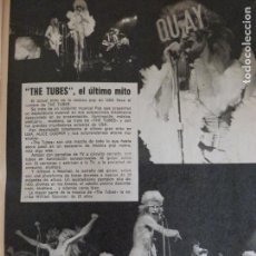 Coleccionismo de Revista Pronto: RECORTE-REPORTAJE-CLIPPING DE THE TUBES REVISTA PRONTO Nº 201. Lote 115654663
