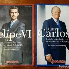 Coleccionismo de Revista Pronto: 2 FASCÍCULO FELIPE VI Y JUAN CARLOS I. Lote 115735283