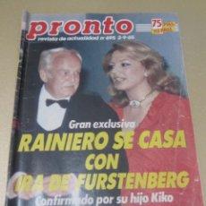 Coleccionismo de Revista Pronto: PRONTO 9/85 CHICHO IBAÑEZ SERRADOR UN DOS TRES LOS GOONIES CORDOBES CERVERA LINDA EVANS ELVIS . Lote 115757203