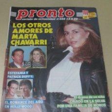 Coleccionismo de Revista Pronto: PRONTO 5/89 MIRTA MILLER LITRI CHARO PASCUAL ESPARTACO SANTONI MARTA CHAVARRI ESTEFANIA DE MONACO. Lote 115759355