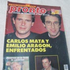 Coleccionismo de Revista Pronto: PRONTO 9/92 GRACE KELLY CARLOS MATA RAFAELA APARICIO SHARON STONE ANA OBREGON POCHOLO MARTINEZ BORDI. Lote 115762491