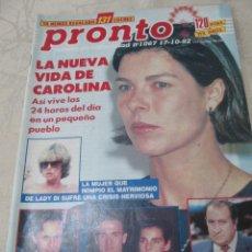 Coleccionismo de Revista Pronto: PRONTO 10/92 ESTEFANIA DE MONACO M SELES MIGUEL BOSE LOLE Y MANUEL LEONOR BENEDETTO SARA MONTIEL . Lote 115763155