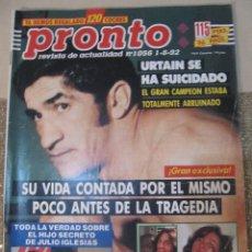Coleccionismo de Revista Pronto: PRONTO 8/92 URTAIN CHARLES BRONSON CONCHA VELASCO CARMEN SARMIENTO PERET TONY KAMO . Lote 115764983