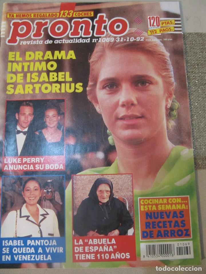 PRONTO 1992 ANA OBREGON LUKE PERRY SENSACION DE VIVIR ROCIO JURADO ORTEGA CANO SOFIA MAZAGATOS (Papel - Revistas y Periódicos Modernos (a partir de 1.940) - Revista Pronto)