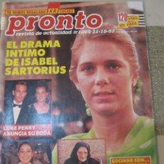 Coleccionismo de Revista Pronto: PRONTO 1992 ANA OBREGON LUKE PERRY SENSACION DE VIVIR ROCIO JURADO ORTEGA CANO SOFIA MAZAGATOS . Lote 115766219