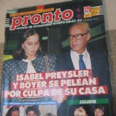 Coleccionismo de Revista Pronto: PRONTO 11/92 MARTA SANCHEZ SABINA MANUEL BANDERA SHARON STONE MAYRA GOMEZ KEMP MADONNA LETICIA SABAT. Lote 115766867