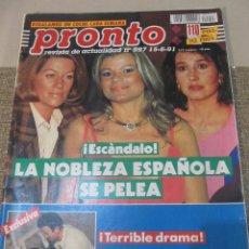 Coleccionismo de Revista Pronto: PRONTO 1991 LYDIA BOSCH SONIA MARTINEZ EL DIONI SERGIO DALMA FLORINDA CHICO GEORGE PEPPARD NORMA DUV. Lote 115767263