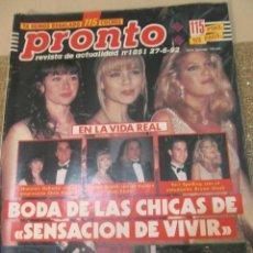 Coleccionismo de Revista Pronto: PRONTO 1992 ESTEFANIA DE MONACO INDURAIN ANA OBREGON CAMILO SESTO DIANA PEÑALVER SCHWARZENEGGER. Lote 115767943