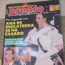 Coleccionismo de Revista Pronto: PRONTO 1992 ESTEFANIA DE MONACO MIRIAM DIAZ AROCA PERET ANTONIO FLORES BUTRAGUEÑO KIKO LEDGARD . Lote 115770855