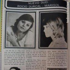 Coleccionismo de Revista Pronto: RECORTE REPORTAJE CLIPPING DE ROCIO DURCAL MARISOL REVISTA PRONTO Nº 177. Lote 116089963