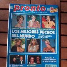 Coleccionismo de Revista Pronto: REVISTA PRONTO / SALVADOR DALI, MASSIEL, LOS MEJORES PECHOS DEL MUNDO, PRINCIPE FELIPE. Lote 116246199