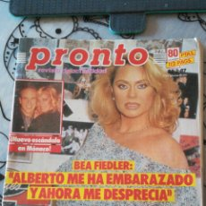 Coleccionismo de Revista Pronto: *REVISTA PRONTO 773* 28-2-87 * BEA FIEDLER / ROCIO JURADO / NORMA DUVAL / VICTORIA VERA / 22. Lote 116763171