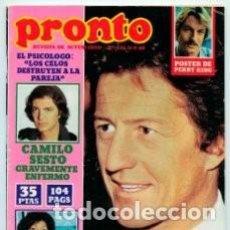 Coleccionismo de Revista Pronto: *REVISTA PRONTO 436* 15-9-80 * PHILIPPE JUNOT / CAMILO SESTO / GRETA GARBO / BO DEREK / 23. Lote 125281028