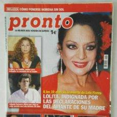 Coleccionismo de Revista Pronto: REVISTA PRONTO N° 1725 MAYO 2005 LOLITA LOLA FLORES LETIZIA EMBARAZADA. Lote 117131835