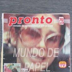Coleccionismo de Revista Pronto: RECORTE PRONTO Nº 649 1984 ISABEL PANTOJA, PAQUIRRI 24 PAGINAS. Lote 117610727