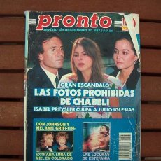 Coleccionismo de Revista Pronto: PRONTO / PEDRO ALMODOVAR, HELENA BIANCO, LOS MISMOS, GEORGE MICHAEL, DON JOHNSON, POLI DIAZ. Lote 117653627