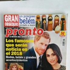 Coleccionismo de Revista Pronto: REVISTA PRONTO N° 2383 ENERO 2018 MARIA TERESA CAMPOS. Lote 118607244