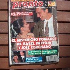 Coleccionismo de Revista Pronto: PRONTO / ISABEL PANTOJA, JOSE CORONADO, MARTA SANCHEZ, XUXA MENEGHEL, JOSE CARRERAS, RICHARD GERE. Lote 118648907
