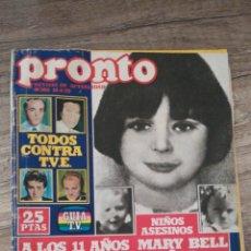 Coleccionismo de Revista Pronto: REVISTA PRONTO 366 * 14-5-79 * BARBARA BACH + ANA MARZOA + CARLOS LARRAÑAGA * 9. Lote 118714351