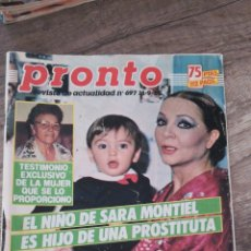 Coleccionismo de Revista Pronto: REVISTA PRONTO 697 * 16-9-85 * SARA MONTIEL + EL YIYO + IMANOL Y PASTORA + RAINIERO * 11. Lote 118714835