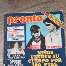 Coleccionismo de Revista Pronto: REVISTA PRONTO 428 * 21-7-80 * CAROLINA Y ROCKY + CARMEN SEVILLA + CONCHA VELASCO + SERRAT * 11. Lote 118716422