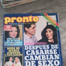 Coleccionismo de Revista Pronto: REVISTA PRONTO 423 * 16-6-80 * SOFÍA LOREN + JULIO IGLESIAS + PEDRO RUIZ + LOLA FLORES * 11. Lote 118716951