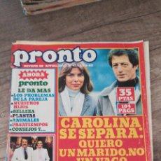Coleccionismo de Revista Pronto: REVISTA PRONTO 425 * 30-6-80 * CAROLINA Y PHILIPPE + ROGER MOORE + AGATA LYS + PACO CAMINO * 11. Lote 118717240