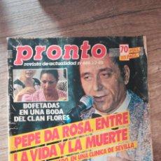 Coleccionismo de Revista Pronto: REVISTA PRONTO 686 * 1-7-85 * CLAN FLORES + PALOMO LINARES + MIGUEL BOSE + RAINIERO * 11. Lote 118723923