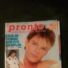Coleccionismo de Revista Pronto: ESTEFANIA-SPANDAU BALLET-ROCIO JURADO-BROOKE SHIELDS-AMANDA LEAR-LOPEZ VAZQUEZ-SARA MONTIEL-ALASKA . Lote 118835651