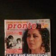 Coleccionismo de Revista Pronto: ISABEL PANTOJA-ANA OBREGON-PERICO DELGADO-EMILIO ARAGON-JUAN LUIS GUERRA-CARMEN SEVILLA-ORTEGA CANO . Lote 118835727