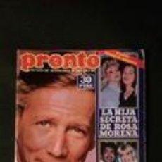 Coleccionismo de Revista Pronto: URSULA ANDRESS-MIGUEL GALLARDO-BARBARA REY-PABLO ABRAIRA-CAMILO SESTO-MIGUEL BOSE . Lote 118836327
