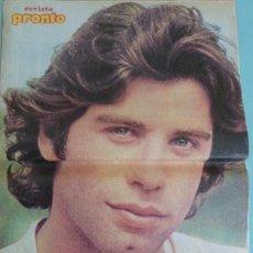 Coleccionismo de Revista Pronto: RECORTE REPORTAJE CLIPPING DE POSTER JOHN TRAVOLTA REVISTA PRONTO Nº 335. Lote 120299479