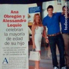 Coleccionismo de Revista Pronto: ANA OBREGON. Lote 120540499