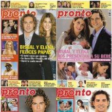 Coleccionismo de Revista Pronto: LOTE 4 REVISTAS PRONTO - DAVID BISBAL 2010 - 2012 NORMA DUBAL - LOLITA - BELÉN ESTEBAN REV0299. Lote 120541363