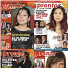 Coleccionismo de Revista Pronto: LOTE 4 REVISTAS PRONTO - ROSA OPERACIÓN TRIUNFO 2002 - 2003 JULIÁN MUÑOZ REV0301. Lote 120542279