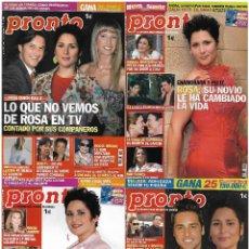 Coleccionismo de Revista Pronto: LOTE 4 REVISTAS PRONTO - ROSA OPERACIÓN TRIUNFO 2006 ROCÍO JURADO - MAR FLORES REV0302. Lote 120542951