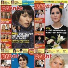 Coleccionismo de Revista Pronto: LOTE 4 REVISTAS PRONTO - ROSA OPERACIÓN TRIUNFO 2008 - 2009 FRAN RIVERA - SHAILA DÙRCAL REV0303. Lote 120543447