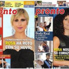 Coleccionismo de Revista Pronto: LOTE 2 REVISTAS PRONTO - ROSA OPERACIÓN TRIUNFO 2010 - 2012 BELÉN ESTEBAN REV0304. Lote 120543899