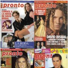 Coleccionismo de Revista Pronto: LOTE 4 REVISTAS PRONTO - DAVID BISBAL 2002 - 2009 REV0297. Lote 120538027