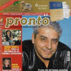 Collectionnisme de Magazine Pronto: REVISTA PRONTO Nº 1597 14-12-2002 ANTONHY BLAKE - ROCÍO JURADO - MARIA ANGELES FELIU REV0149. Lote 121200851