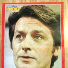 Coleccionismo de Revista Pronto: POSTER REVISTA PRONTO ALAIN DELON. Lote 121558387