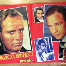 Coleccionismo de Revista Pronto: POSTER REVISTA PRONTO MARLON BRANDO. Lote 121559503